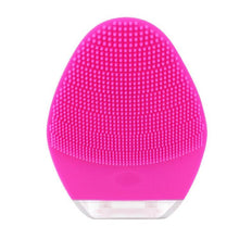 Load image into Gallery viewer, Mini Sonic Facial Cleansing Brush& Massager Silicone Rechargable Vibrating Waterproof Facial Cleansing