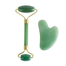 Load image into Gallery viewer, New design product face roller jade roller set gua sha set massage tool