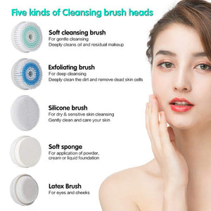 Face Brush Facial Brush Rechargeable Rotating Waterproof Cleansing Brush Set