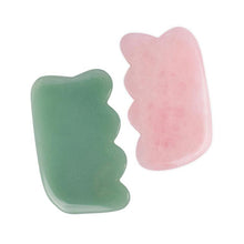 Load image into Gallery viewer, Skin Care Guasha Natural Rose Quartz/Green Gua Sha Scraping Massage Tool