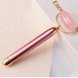 Electric Jade Roller Facial Massager, Rose Quartz Roller Beauty Bar Face Massager