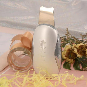 portable beauty Ultrasonic skin cleaner device Face Lift Skin Scrubber