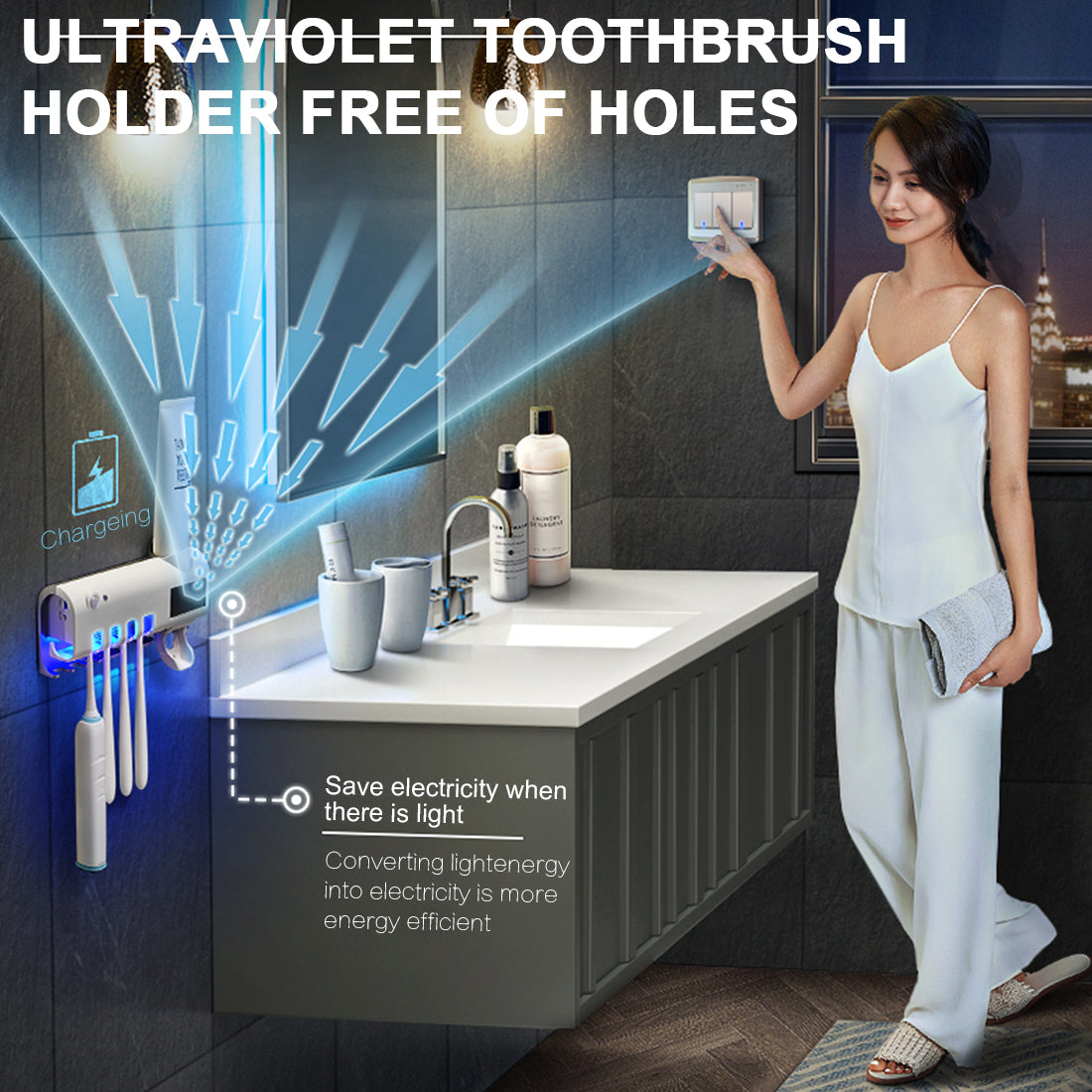 UV Toothbrush Sanitizer and Cleaner - berryandberry