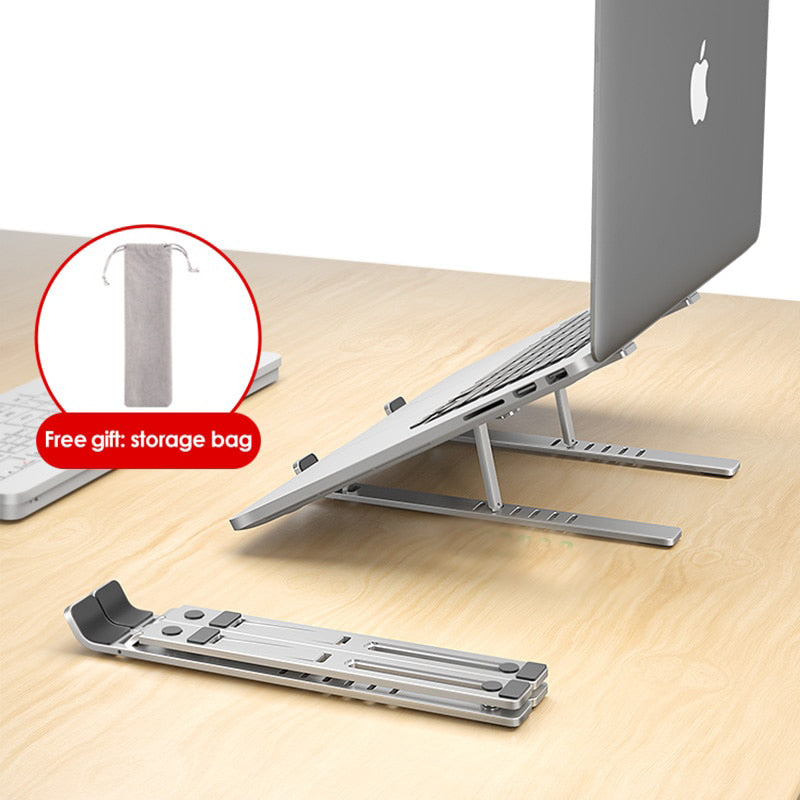 Best Aluminium Portable / Foldable And Adjustable Laptop Desk Stand - berryandberry