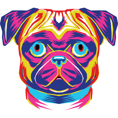 Men's Long Sleeve Pug Tee