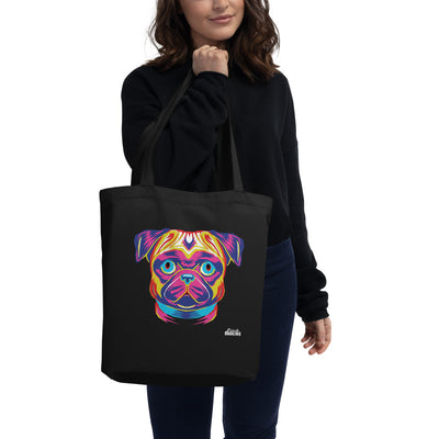 Pug Pup Art Eco Tote Bag