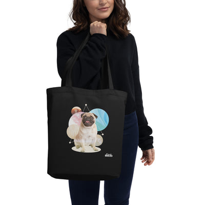 Space Pup Pug Eco Tote Bag