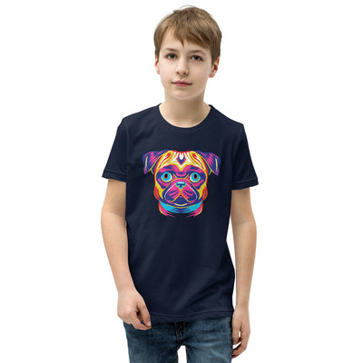 Pug Pup Art Boy's Short Sleeve T-Shirt