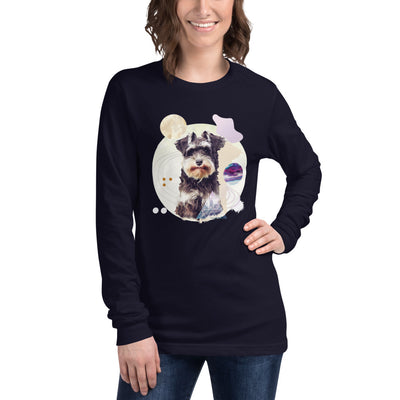 Women's Long Sleeve Mini-Schnauzer Graphic Tee