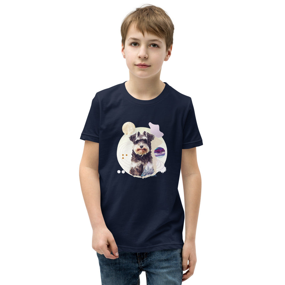 Boy's Short Sleeve Mini-Schnauzer Graphic T-Shirt