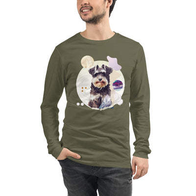 Men's Long Sleeve Schnauzer Graphic T-Shirt