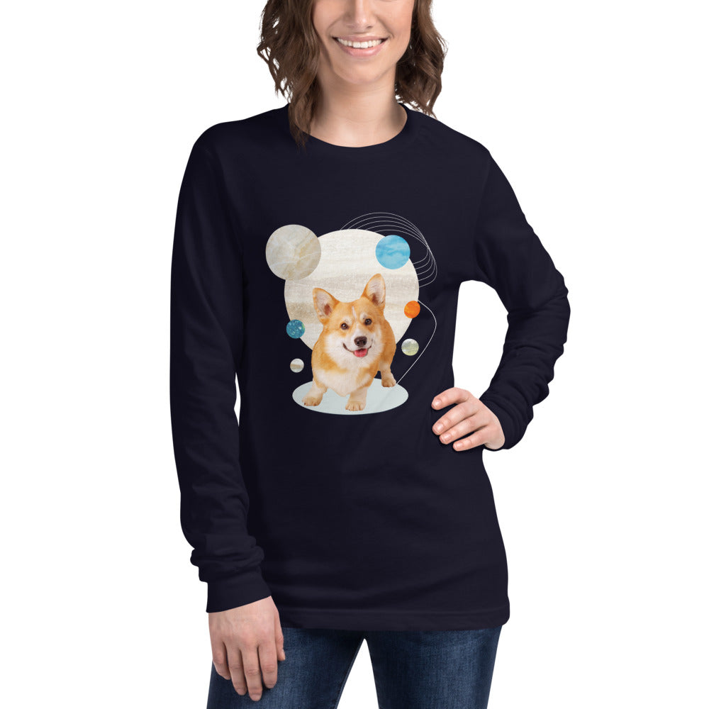 Women's Long Sleeve Corgi Graphic Tee