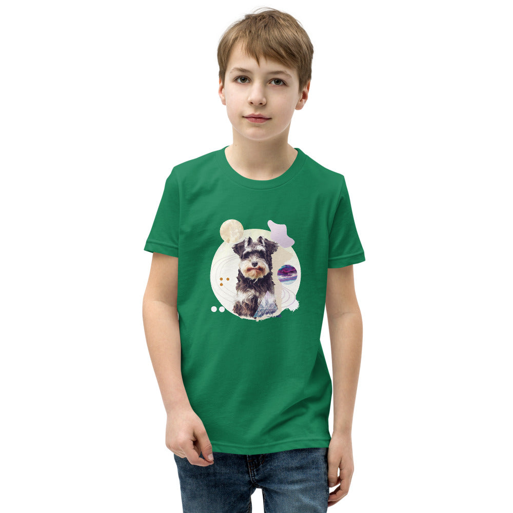 Boy's Short Sleeve Schnauzer Graphic T-Shirt