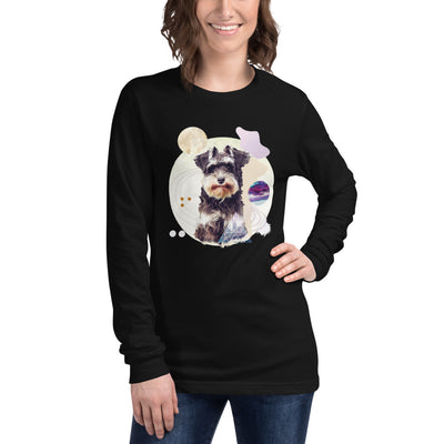 Women's Long Sleeve Schnauzer Graphic Tee