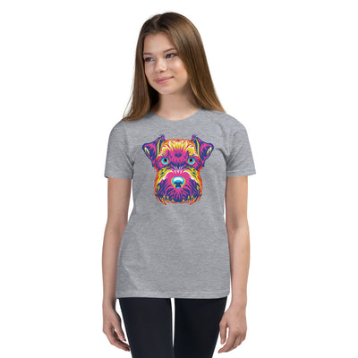 Girl's Short Sleeve Mini-Schnauzer T-Shirt