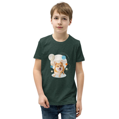 Boy's Short Sleeve Corgi Graphic T-Shirt