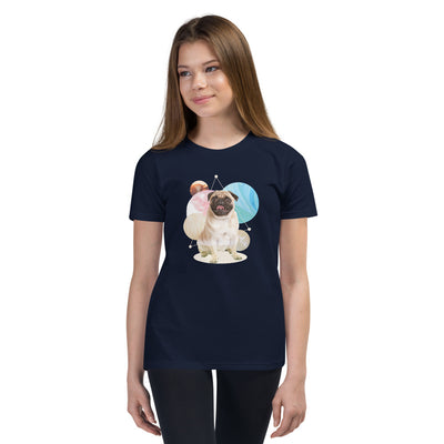Girl's Short Sleeve Pug Graphic T-Shirt