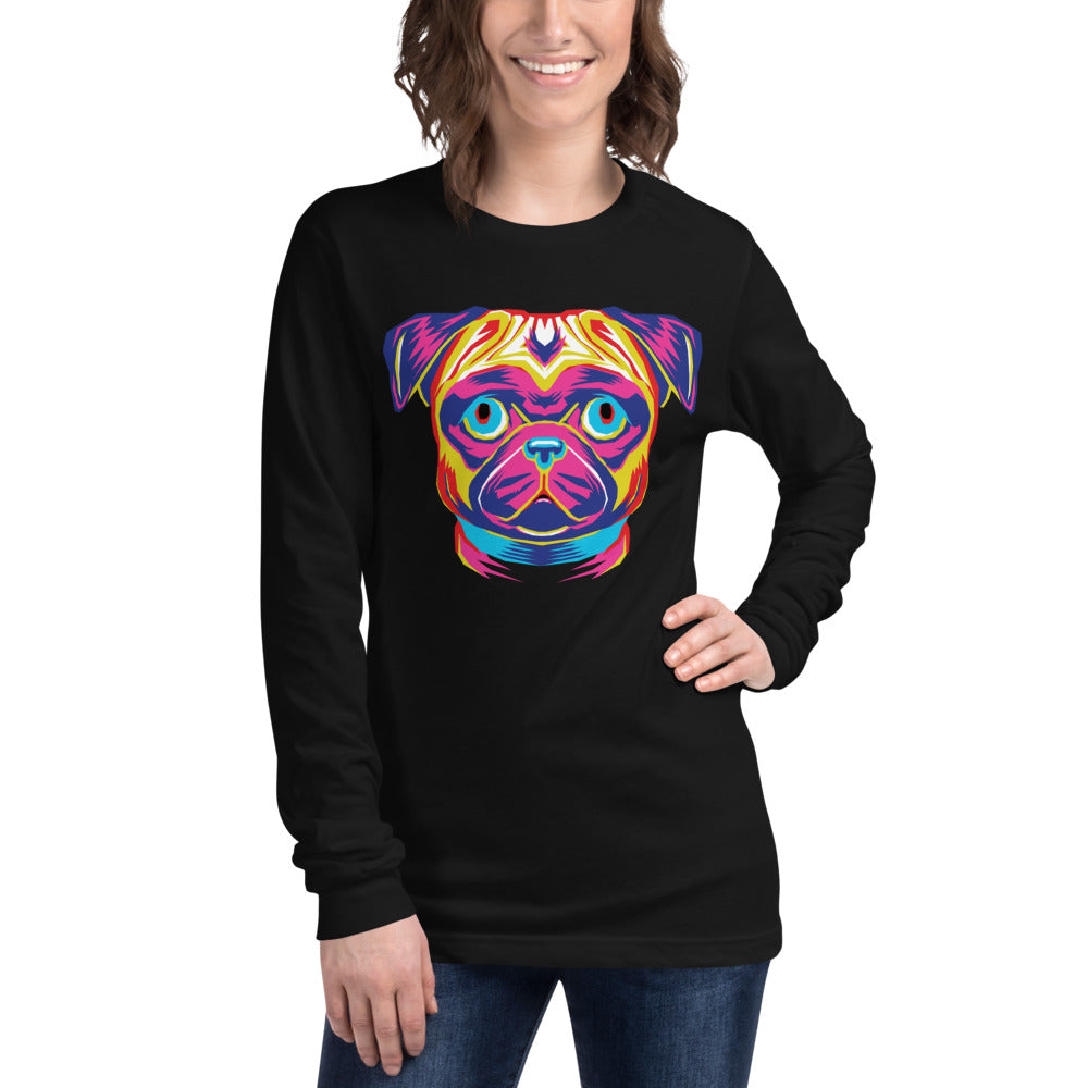Women's Long Sleeve Pug Tee
