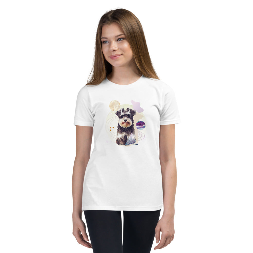 Girl's Short Sleeve Schnauzer Graphic T-Shirt