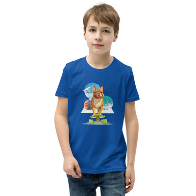 Space Pup French Bulldog Boy's Short Sleeve T-Shirt