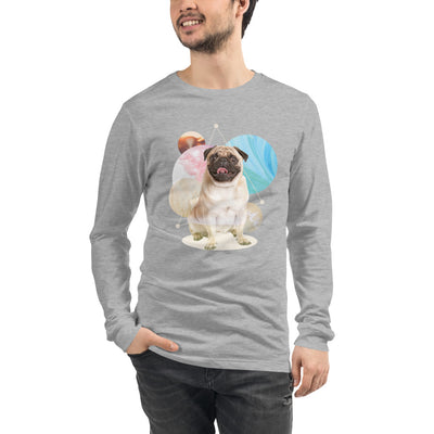 Men's Long Sleeve Pug Graphic T-Shirt