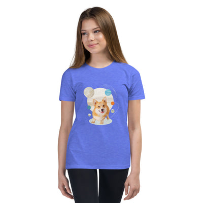 Girl's Short Sleeve Corgi Graphic T-Shirt