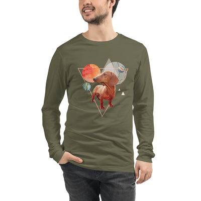 Men's Long Sleeve Dachshund Graphic Tee