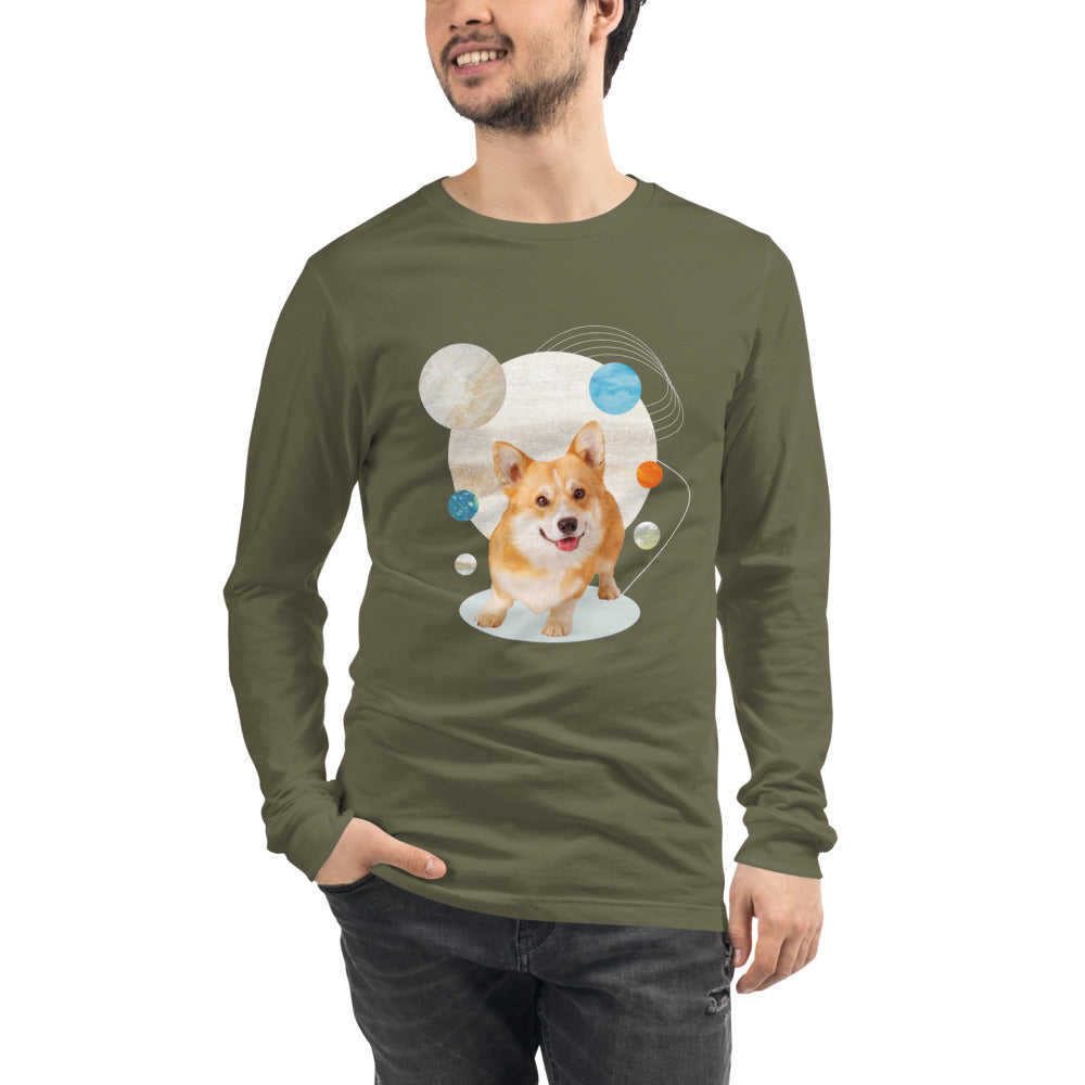 Men's Long Sleeve Corgi Graphic Tee