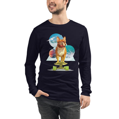 Men's Long Sleeve French Bulldog Graphic T-Shirt