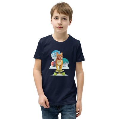 Boy's Short Sleeve French Bulldog Graphic T-Shirt