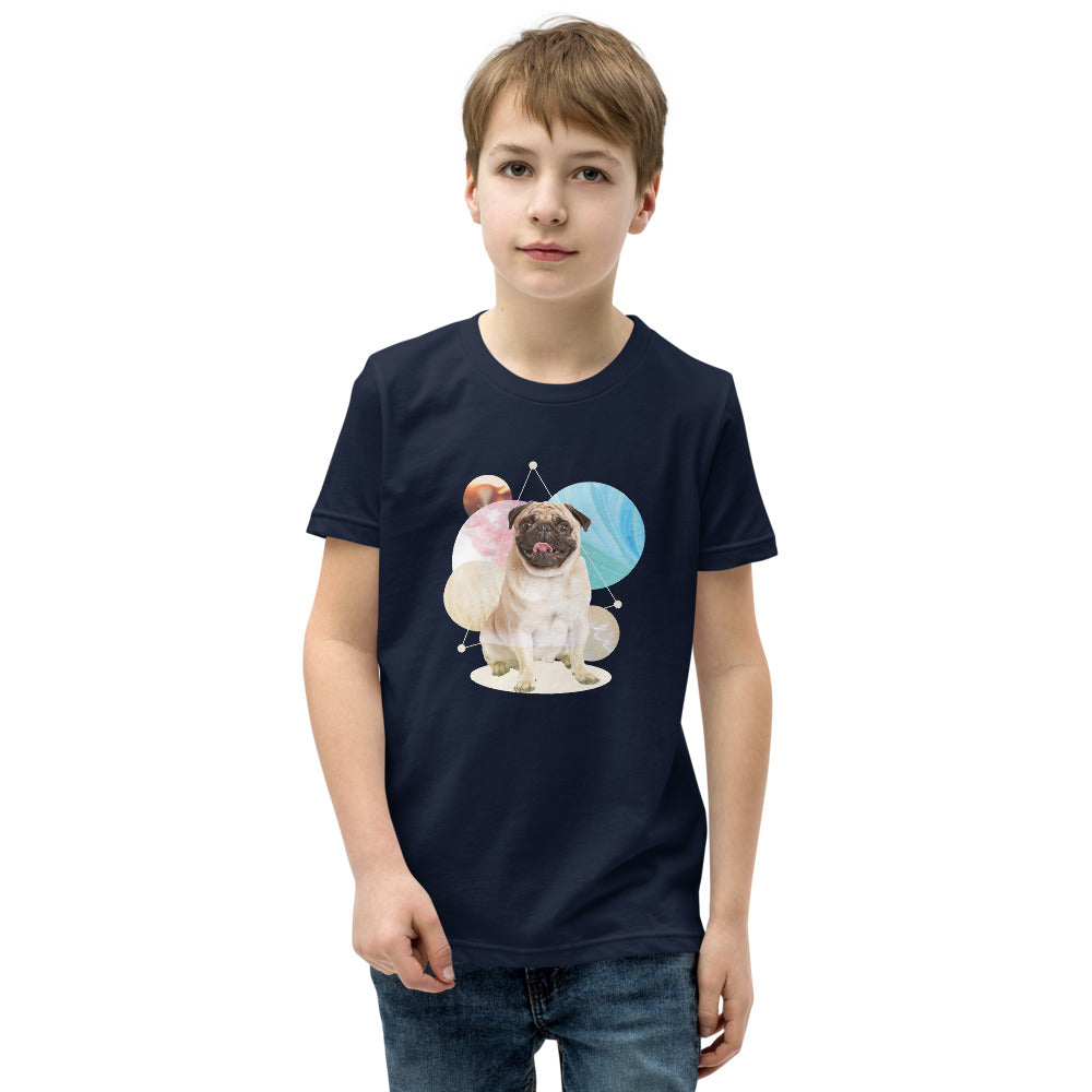 Boy's Short Sleeve Pug Graphic T-Shirt