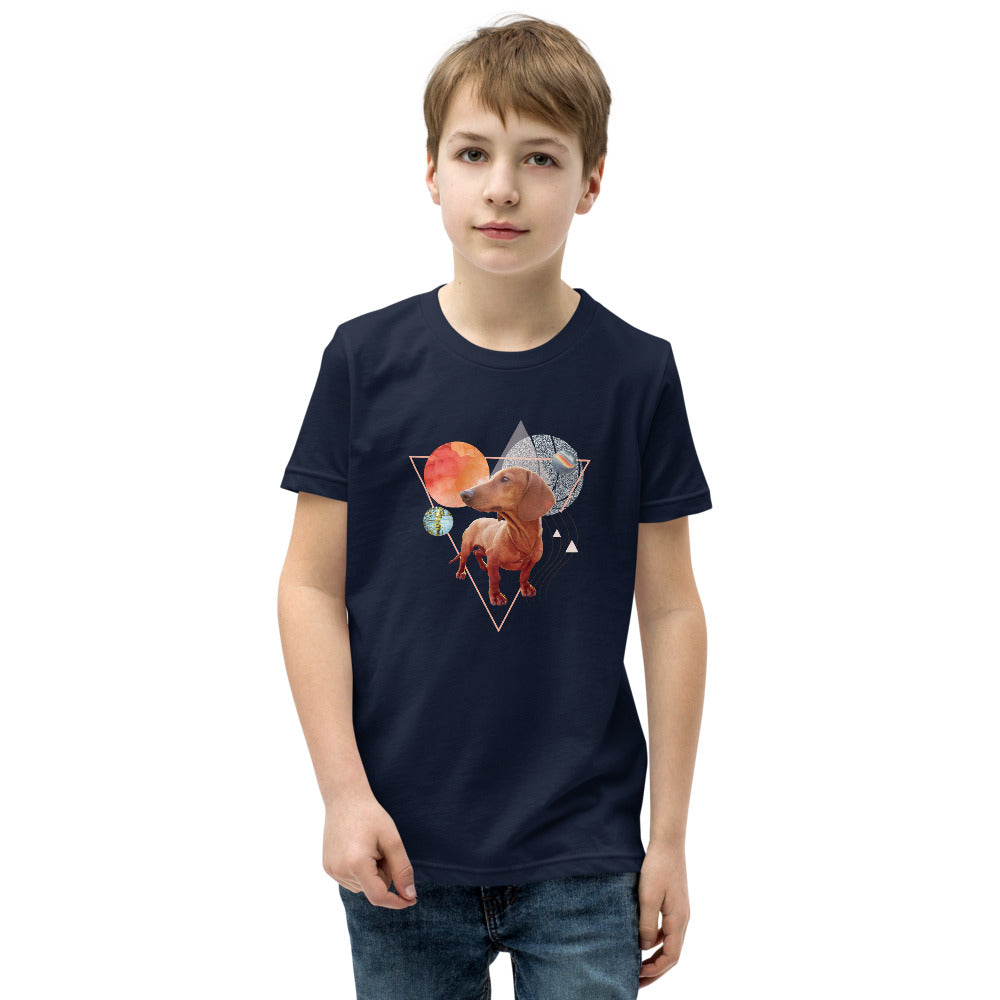 Boy's Short Sleeve Dachshund Graphic T-Shirt