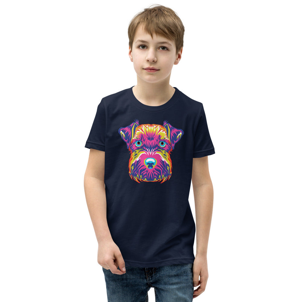 Boy's Short Sleeve Mini-Schnauzer T-Shirt
