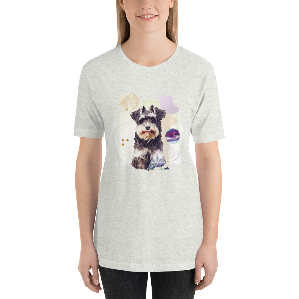 Space Pup Schnauzer Women's Short-Sleeve T-Shirt