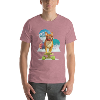 Space Pup French Bulldog Men's Short-Sleeve T-Shirt