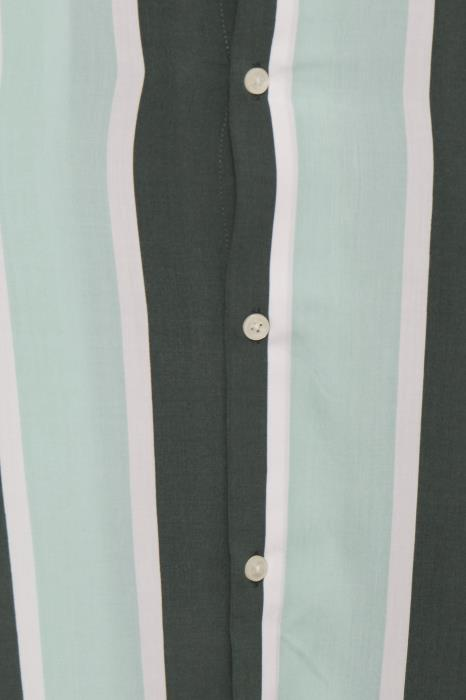 Casual Friday Mint Green Striped Shirt
