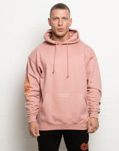 304 Mens Winter Retro Hoodie Dusty Pink