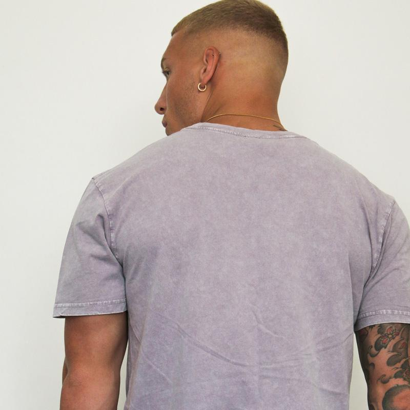 304 Mens Stone Wash Summer T-Shirt Orchid