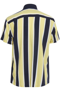 Casual Friday Yellow And Navy Striped Shirt