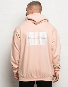 304 Graphic Barcode Hoodie Dusty Peach