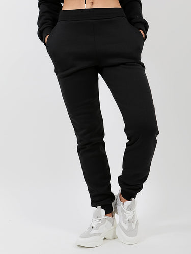 Slim Fit Joggers-Black