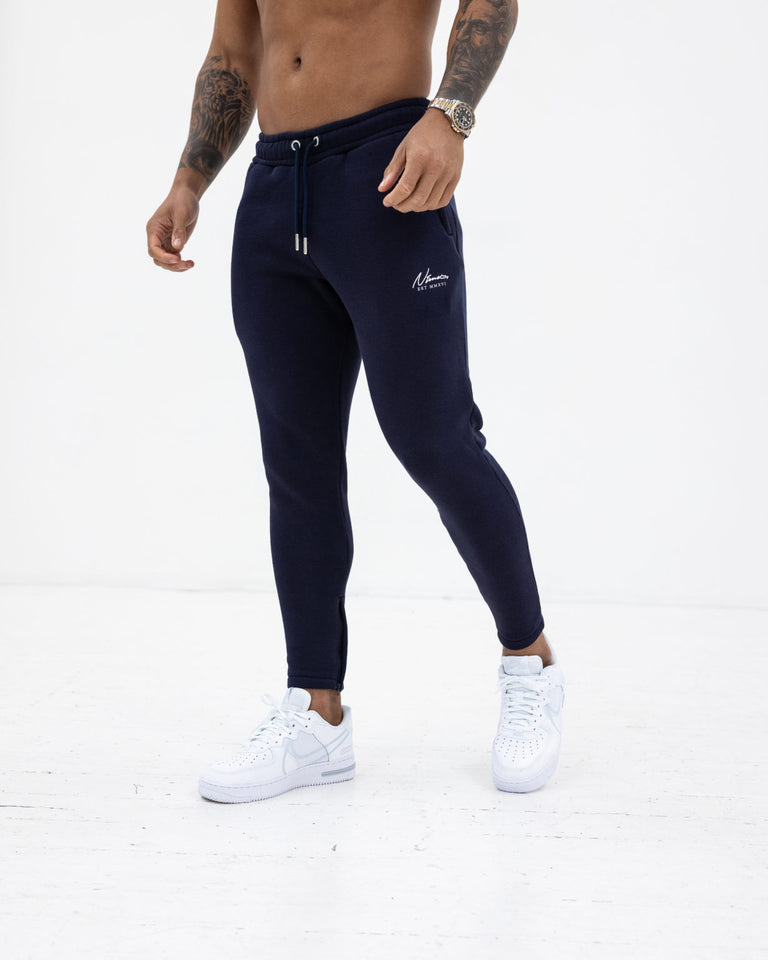 Essential Slim Fit Joggers – Navy