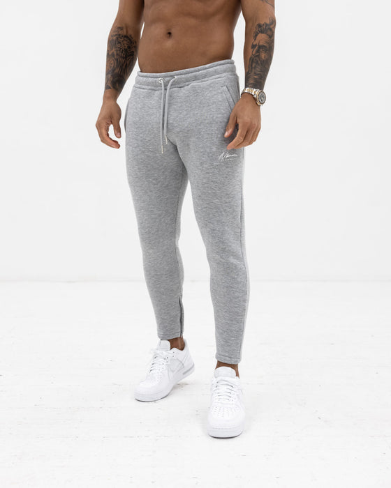 Essential Slim Fit Joggers – Grey Marl