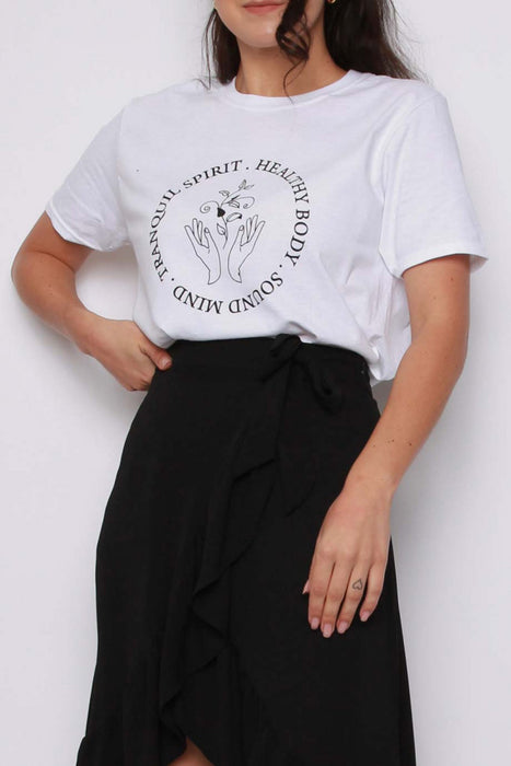 Daily Wellness Print Oversized T-shirt