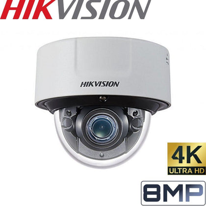 HIKVISION DS-2CD5185G0-IZS Security Camera: 8MP Varifocal Dome 2.8-12mm, IK10