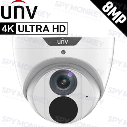 Uniview IPC3618SB-ADF28(40)KM-I0 Security Camera: 8MP (4K Ultra HD) Turret, IP67