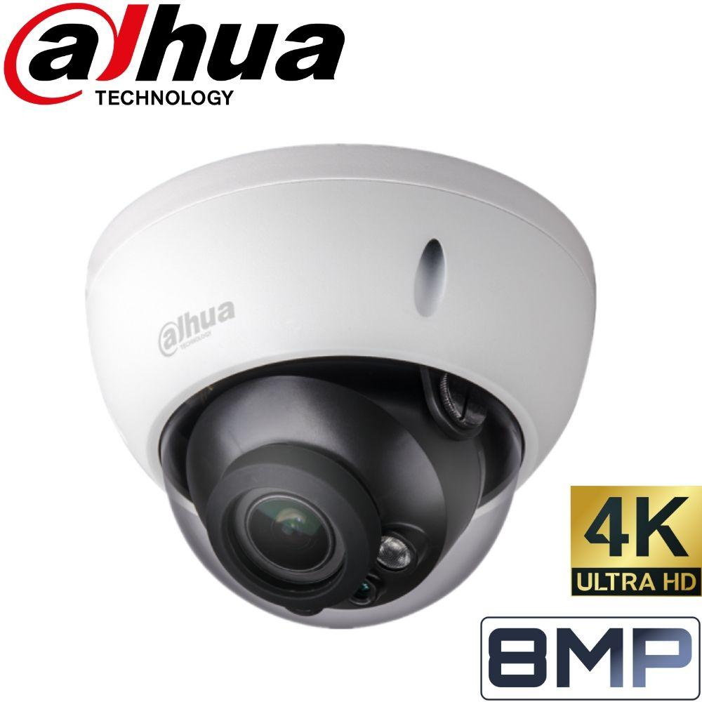 Dahua 8 Channel Security System: 8MP NVR, 8 x 8MP (4K) Dome Cameras, 2TB HDD