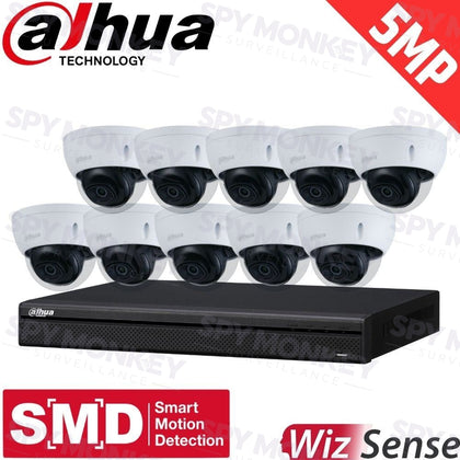 Dahua 16-Channel Security Kit: 8MP (Ultra HD) NVR, 10 x 5MP Fixed Dome, WizSense + Starlight