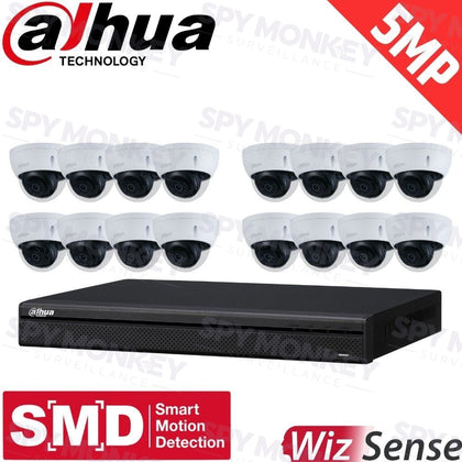 Dahua 16-Channel Security Kit: 8MP (Ultra HD) NVR, 16 X 5MP Fixed Dome, WizSense + Starlight