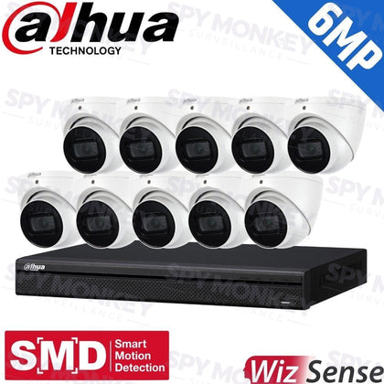 Dahua 16-Channel Security Kit: 8MP (Ultra HD) NVR, 10 x 6MP Fixed Turrets, WizSense + Starlight